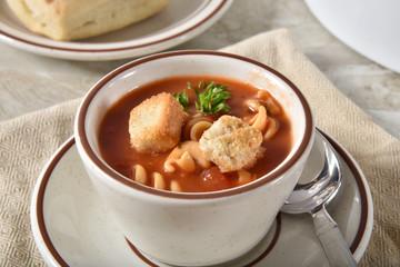 Tomato rotini soup