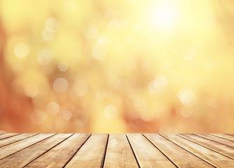 Autumn golden abstract background