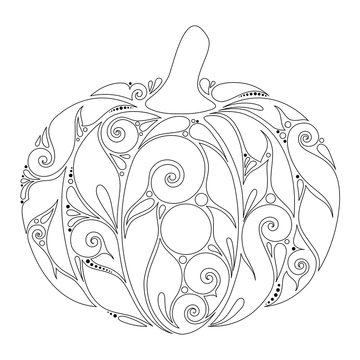 Monochrome Decorative Pumpkin