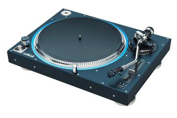 Phonograph Turntable. 3D rendering