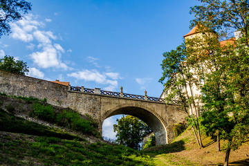 The bridge of the Veveří Castle