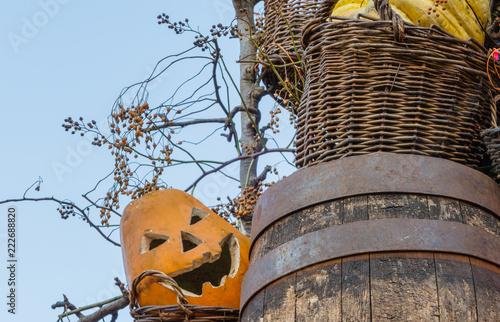 Halloweendeko Draußen Außen Garten Stock Photo And Royalty Free