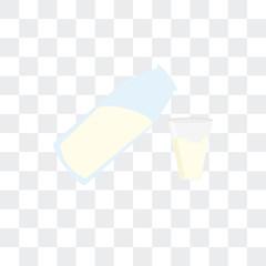 Milk vector icon isolated on transparent background, Milk logo design