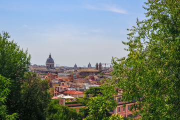 panorama of Rome from the Pincio terrace