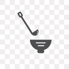 ladle icon on transparent background. Modern icons vector illustration. Trendy ladle icons