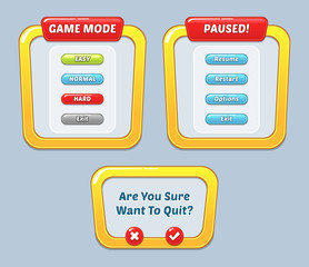 Game User Interface Templates