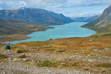 Glacier-fed Lake