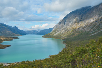 Glacier-blue Lake