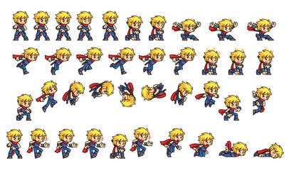 Blue Ninja Boy Game Sprites