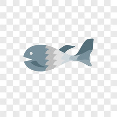 Fish vector icon isolated on transparent background, Fish logo design