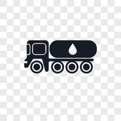 tank truck icons isolated on transparent background. Modern and editable tank truck icon. Simple icon vector illustration.