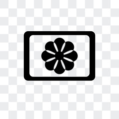 image of a flower icon isolated on transparent background. Modern and editable image of a flower icon. Simple icons vector illustration.