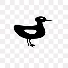Ducky vector icon isolated on transparent background, Ducky logo design