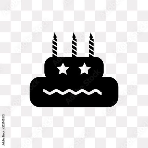 Birthday Icon On Transparent Background Modern Icons Vector