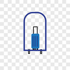bellhop icons isolated on transparent background. Modern and editable bellhop icon. Simple icon vector illustration.