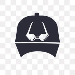 Baseball cap vector icon isolated on transparent background, Baseball cap logo design