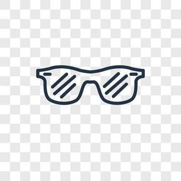 sunglasses icons isolated on transparent background. Modern and editable sunglasses icon. Simple icon vector illustration.