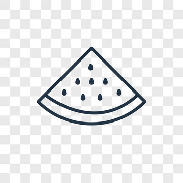 watermelon icons isolated on transparent background. Modern and editable watermelon icon. Simple icon vector illustration.