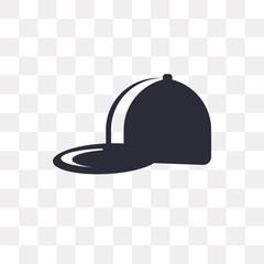 baseball cap icon on transparent background. Modern icons vector illustration. Trendy baseball cap icons