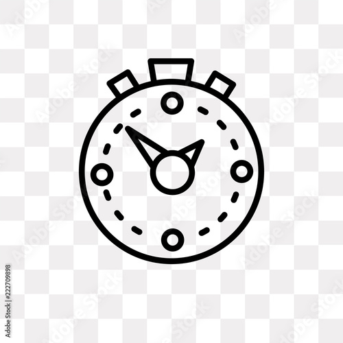 stopwatch icon on transparent background  Modern icons
