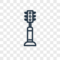 Traffic light vector icon isolated on transparent background, Traffic light logo design