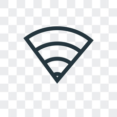 wifi icon isolated on transparent background. Modern and editable wifi icon. Simple icons vector illustration.