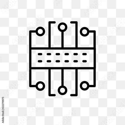 circuit icon on transparent background  Modern icons vector