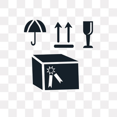 box icon on transparent background. Modern icons vector illustration. Trendy box icons