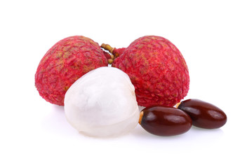 lychee isolated on white background