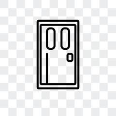Door vector icon isolated on transparent background, Door logo design