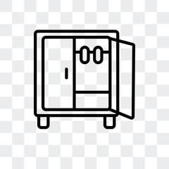 Wardrobe vector icon isolated on transparent background, Wardrobe logo design