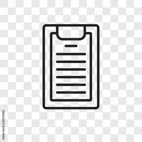 notepad icons isolated on transparent background  Modern and