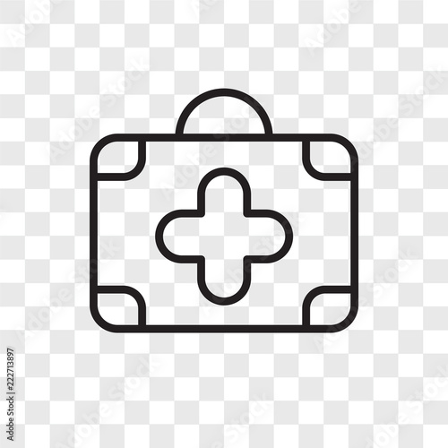 first aid kit icons isolated on transparent background  Modern and