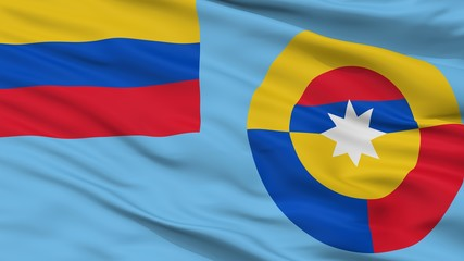Ensign Of Colombian Air Force Flag, Closeup View, 3D Rendering