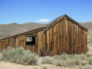 old wooden building, bodie ghost town