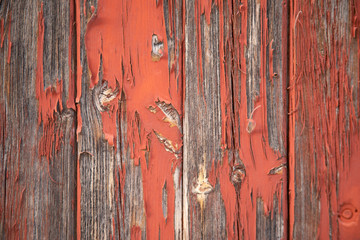 Red painted wood backdrop