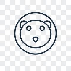 polar bear icon isolated on transparent background. Modern and editable polar bear icon. Simple icons vector illustration.