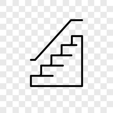 stairs icons isolated on transparent background. Modern and editable stairs icon. Simple icon vector illustration.