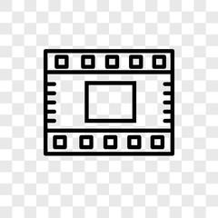 Film strip vector icon isolated on transparent background, Film strip logo design