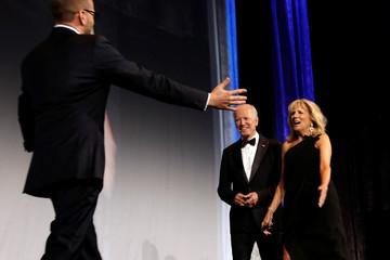 Former U.S. Vice President Joe Biden addresses the Human Rights Campaign dinner in Washington