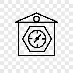 clocks icons isolated on transparent background. Modern and editable clocks icon. Simple icon vector illustration.