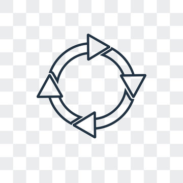 circular arrow icon isolated on transparent background. Modern and editable circular arrow icon. Simple icons vector illustration.