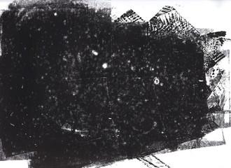 Black grunge distressed hand printed background texture