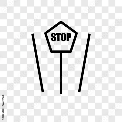 stop icons isolated on transparent background  Modern and