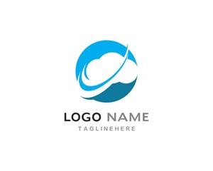 cloud technology vector logo template
