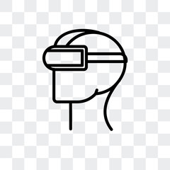 virtual reality icon isolated on transparent background. Modern and editable virtual reality icon. Simple icons vector illustration.