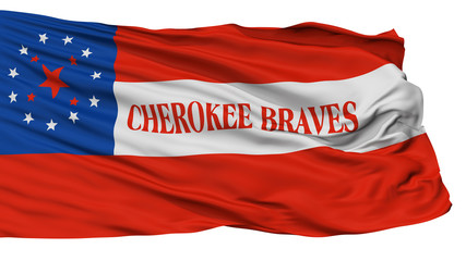 Cherokee Braves Indian Flag, Isolated On White Background, 3D Rendering