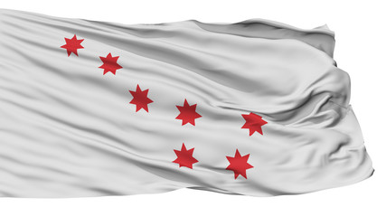 Cherokee Peace Indian Flag, Isolated On White Background, 3D Rendering