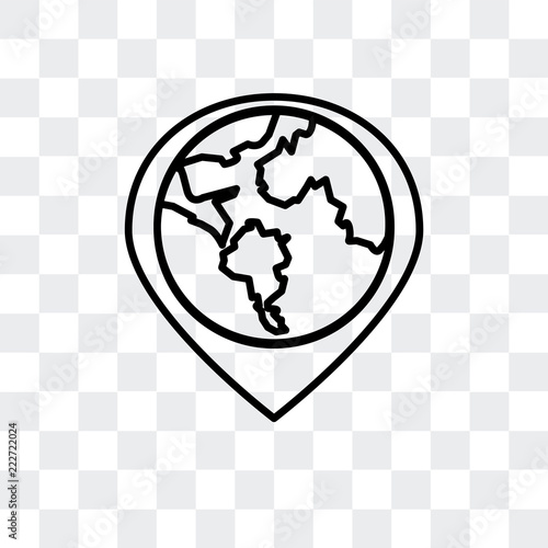 globe icon isolated on transparent background  Modern and