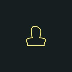 man line icon. avatar icon